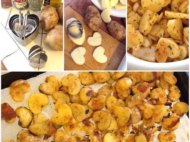 Cómo hacer en forma de corazón horno asado Patatas Receta