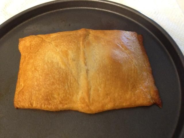 Cuando's a nice golden brown color (10-14 minutes) remove it from the oven and let it cool for 5 minutes.