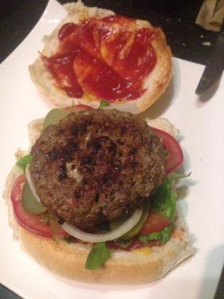 Añadir patty hamburguesa