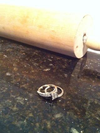 Ahora tome sus anillos antes de hacer el siguiente paso ... se pone sucio!