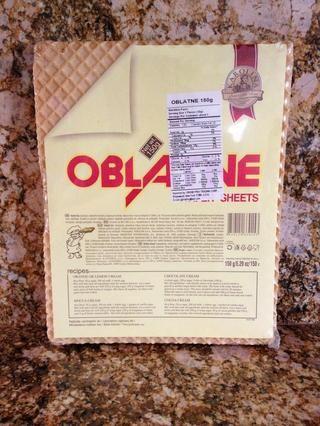 Aquí están las obleas en el paquete.