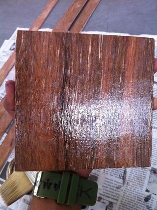 Pintado de madera contrachapada se verá así