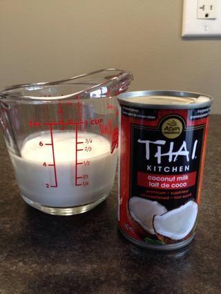 1/2 taza de grasa natural de leche de coco