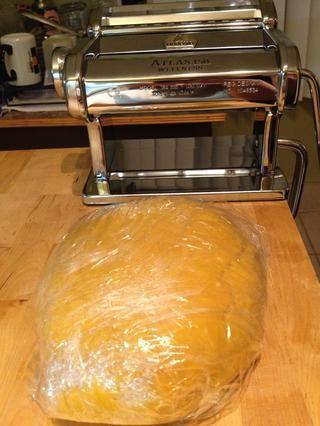 Tome la pasta de la nevera (creo que me lo guardé en alrededor de una hora y media).
