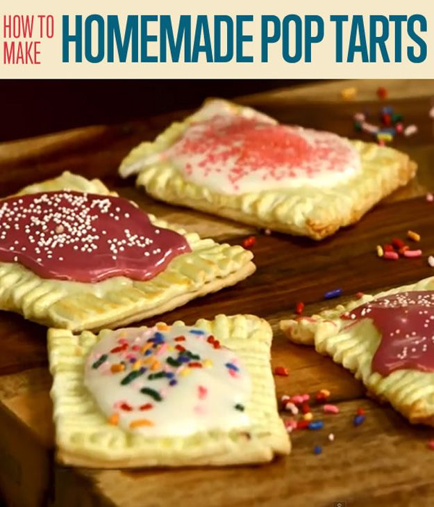 Hecho en casa helado de vainilla glaseado Pop tartas Receta   http://artesaniasdebricolaje.ru/how-to-make-homemade-pop-tarts/