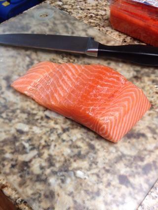 Haga lo mismo con el salmón
