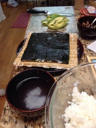 Luego, abre y agregar el pescado / verduras que quieras!