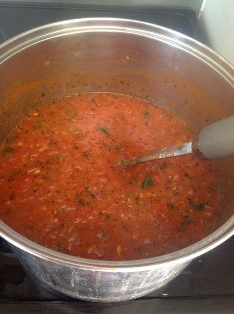 Cómo hacer casera de tomate Pasta Salsa Receta