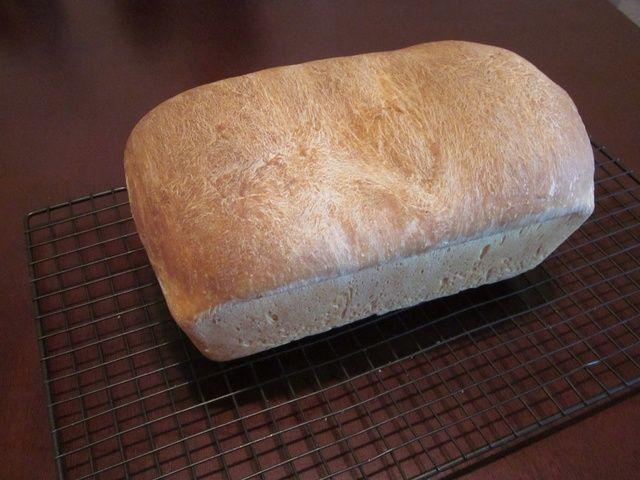 Cuando se hace tirar de la inmediatley sartén y deje que se enfríe durante al menos 1 hora. Este derecho no es su pan. Date unas palmaditas en la espalda.
