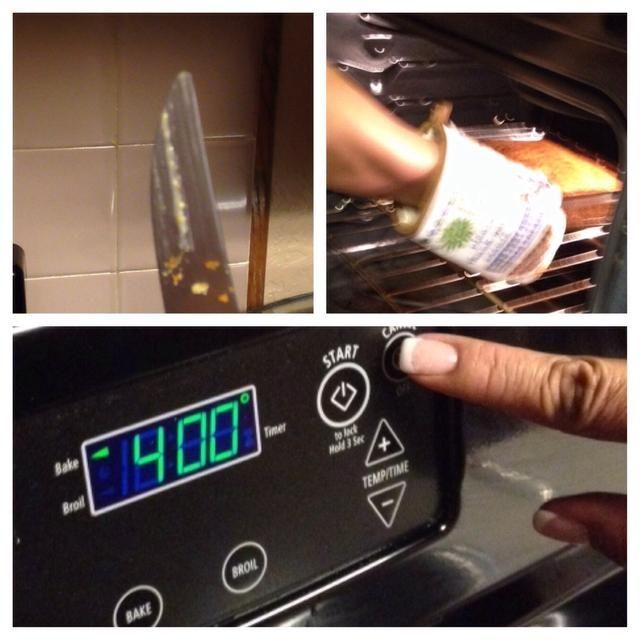 Si sigue siendo lugar sin cocer de nuevo en el horno, pero apagar el horno y dejar reposar en el calor
