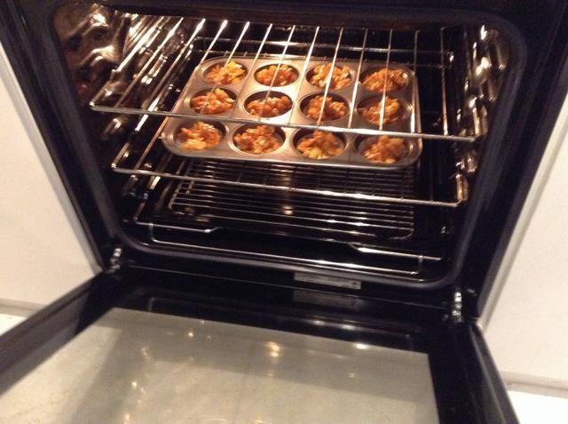 Hornear en un horno lento a 150ºC durante 10 minutos.
