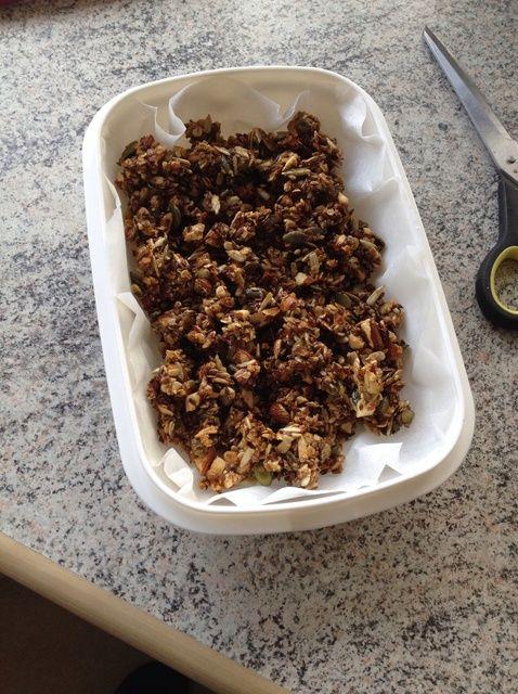 Cómo hacer asada miel Muesli Con vainilla Receta