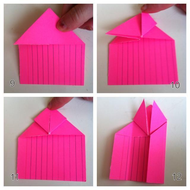 9 = calabaza plana. 10 = doblez propina derecho hacia arriba. 11 = pliegue izquierda punta hacia arriba. 12 = pliegue lateral derecho de media ...