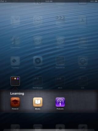 Volver a la pantalla de inicio y abra la aplicación iBooks.