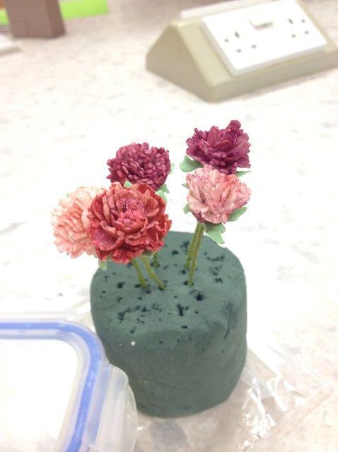 Cómo hacer que la formación de hielo Flores (claveles) Receta