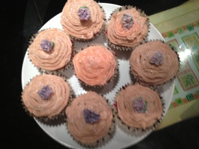 aquí's some cupcakes I made today:)
