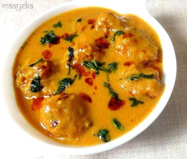 Tada !! Sabroso curry indio delicioso está listo. ?????? Usted puede tener con pan indio o arroz y disfrutar !!