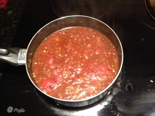Cocine a fuego lento la salsa