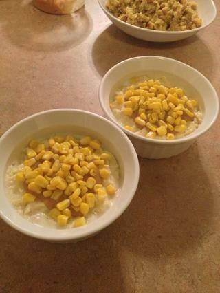 Añadir un poco de maíz, o cualquier otro pequeño verduras es posible que haya sobrado.