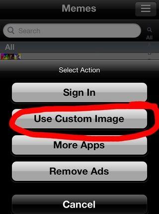 Toque imagen personalizada utilización.