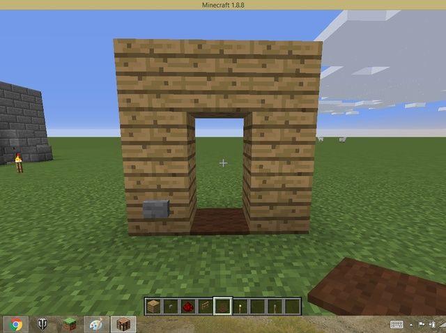 Cómo hacer que la puerta invisible en Minecraft Pc