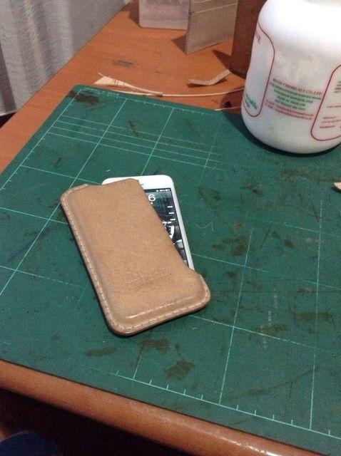 Cómo hacer iPhone 5 en caja moldeada de cuero