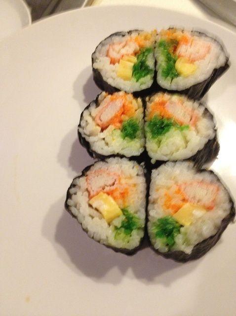 Cómo hacer japonesa Maki Sushi Con Tamago Yaki (Egg) ❤ Receta