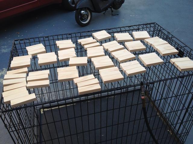 Después fueron lijadas todas las piezas que usé mi compresor de aire para soplar limpios