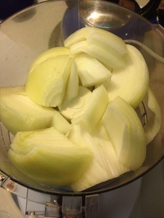 Cebollas Trimestre y puesto en proccesor alimentos