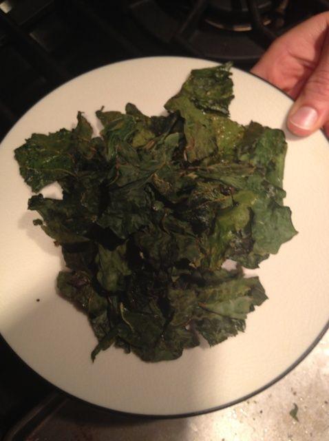 Cómo hacer Kale chips Receta