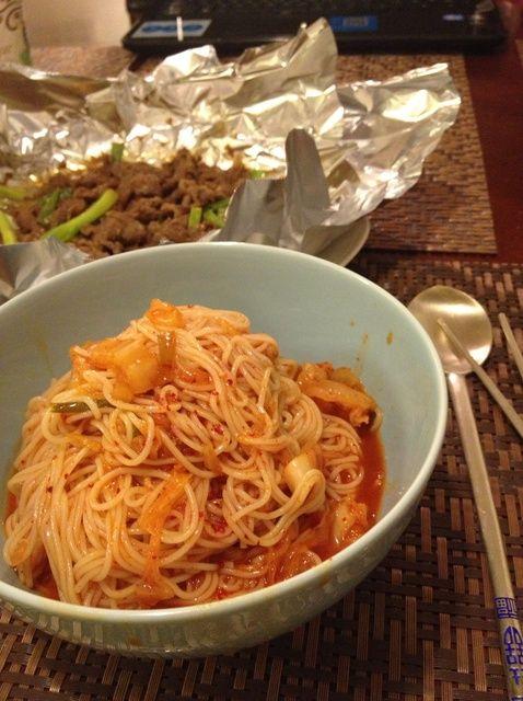 Cómo hacer Kimchi y Noodle Bowl Receta