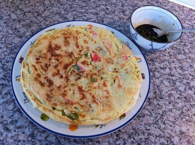 Cómo hacer de Corea Mariscos / cebollas de primavera Pancake Receta