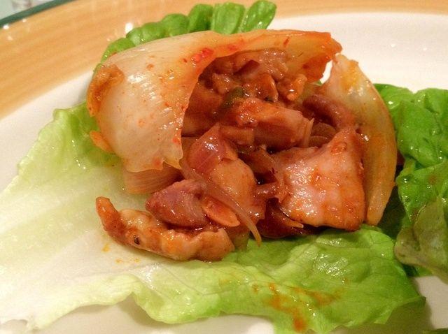 Cómo hacer que el estilo coreano pollo Lechuga Wrap Receta