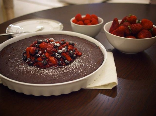 Cómo hacer chocolate sin lactosa Torte & Berry compota Receta