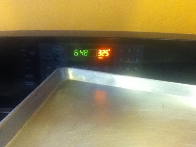 Precaliente el horno a 325