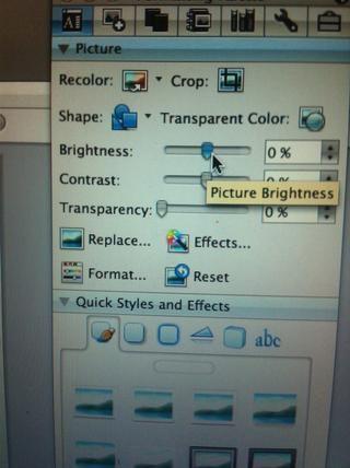 Sólo ajustar el brillo de la imagen hasta que se vuelve negro, asegúrese de que la imagen tiene un fondo transparente