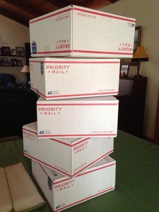 Quería que todos mis bloques del mismo tamaño. Cajas de cintas cerradas con cinta de embalaje.