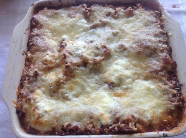 Cocine en el horno entre 45 a 60 min, planta un cuchillo para poner a prueba la suavidad de la pasta