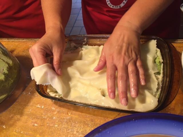 añadir una capa de pasta fresca