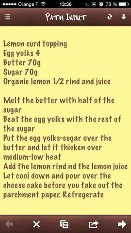 El capado cuajada de limón