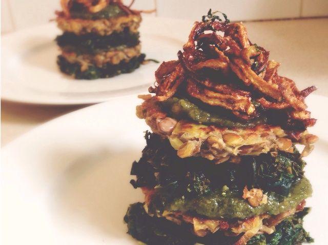 Cómo hacer pasteles de lentejas con Pesto - Esteroides Vegetariano Receta