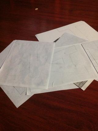 Rastrear sus cartas * recuerde rastrearlos hacia atrás si're tracing on the back of the photos