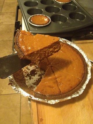 Yayy mi primer pastel de calabaza no es prefecto, pero aún sabe bien!
