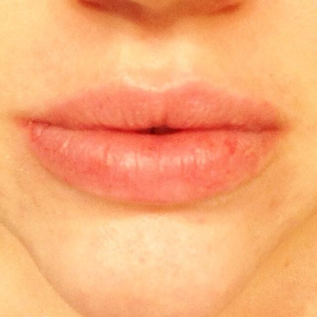 Y me quedé con los labios suaves y sin piel seca repulsivo.