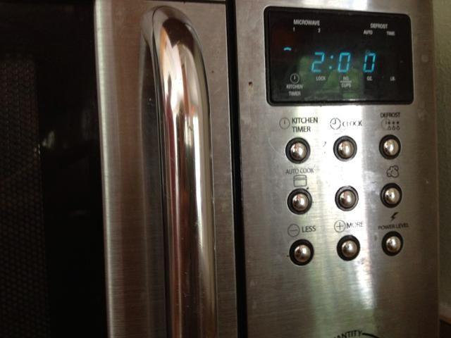 Microondas durante 2 minutos. (Calor Regular)