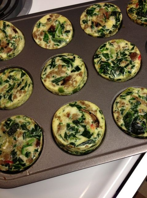 Cómo hacer Muffins Low Carb Crustless del huevo Receta