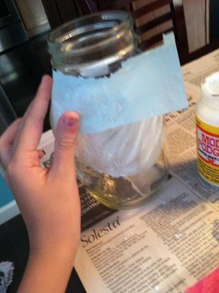A continuación, aplique el papel de seda para el área seleccionada.