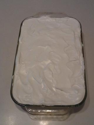 Spread restante azote fresco en la parte superior.