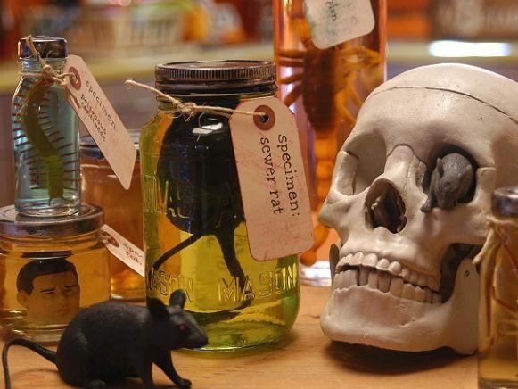Hacer locos frascos de especímenes científico.