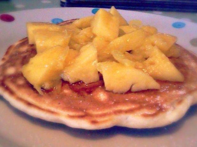 Cómo hacer Mango y jarabe de arce Panqueques Receta